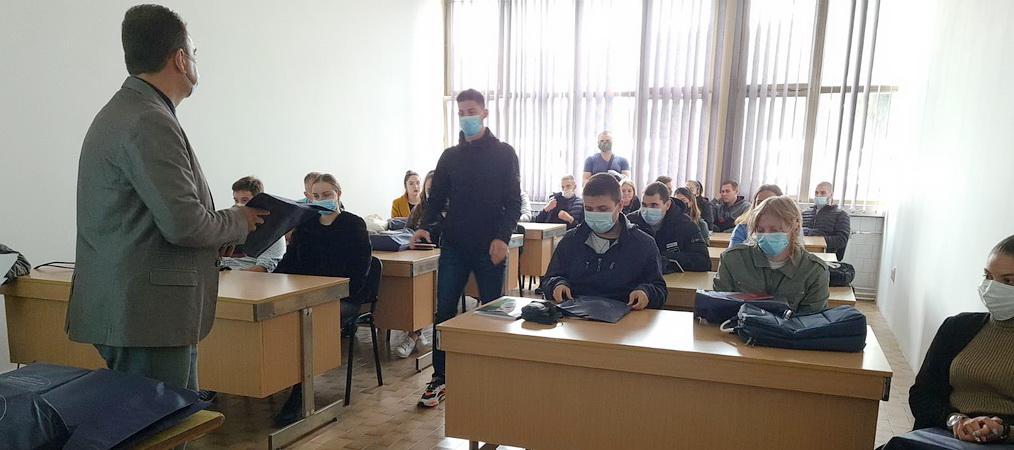 Formal reception of students in Vrbas 2021/22